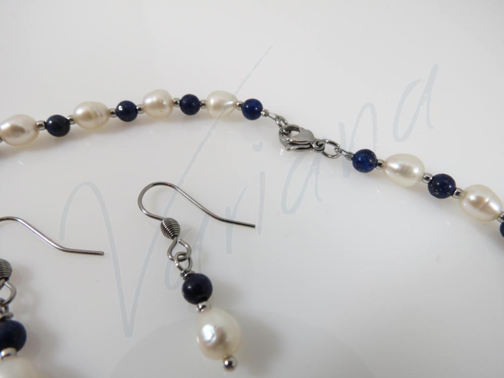 Set Blue pearl