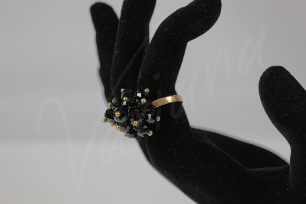 Inel Black&Gold