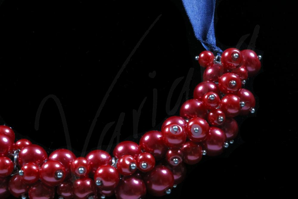 Colier perle sticla